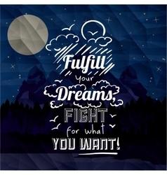 Motivational poster message design vector