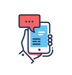 Online chat - modern line design single vector