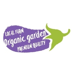 Organic garden hand drawn isolated label vector