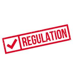 Regulation rubber stamp vector