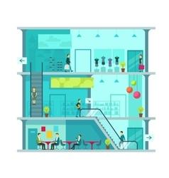 Scene inside shopping mall vector image