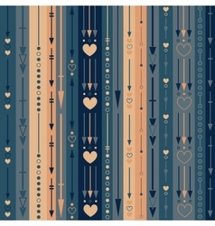 Seamless pattern of the color vertical arrows vector image vector image