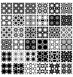Set of 36 seamless patterns vector image vector image