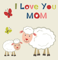 Sheep and lamb vector image vector image