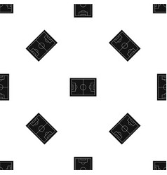 soccer field pattern seamless black vector image vector image