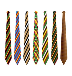 striped ties vector image vector image