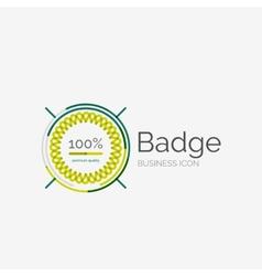 Thin line neat design logo premium quality stamp vector image vector image
