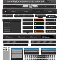 web design elements set black vector image