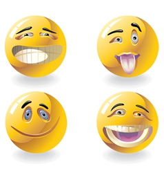 four emoticons vector image