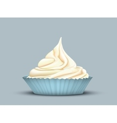 Delicate twisted cream in the mould vector