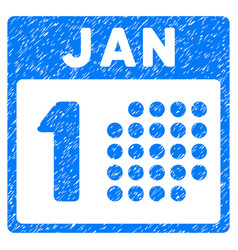 january first grunge icon vector image