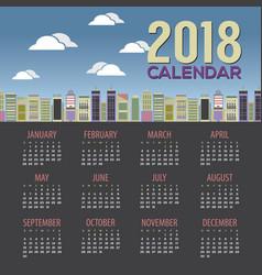 2018 skyscraper cityscape calendar vector