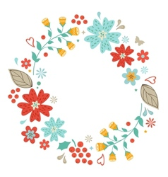 Floral wreath vector image