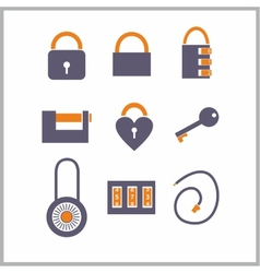 Various locks icons vector