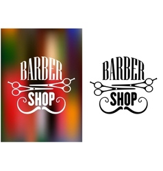 Barber shop icon emblem or label vector