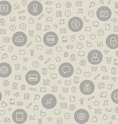 Light seamless pattern with universal icons vector