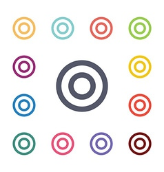 Target flat icons set vector