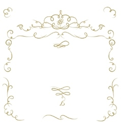 Ornate cartouche vector