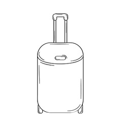 Suitcase with wheels vector