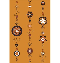illustration of decorative wind chimes with vector
