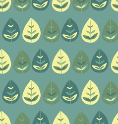 Seamless pattern cute forest vector