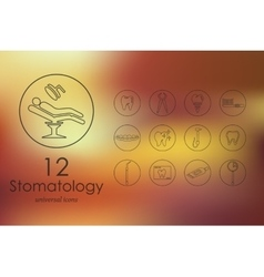Set of stomatology icons vector