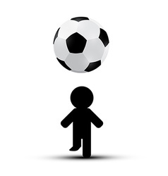 Soccer - football ball with player man silhouette vector
