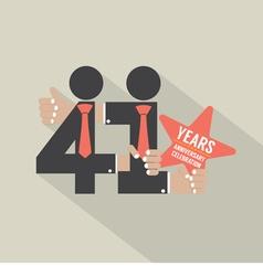 41st years anniversary typography design vector
