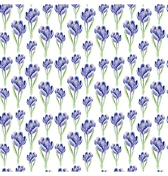 Watercolor saffron herb seamless pattern vector