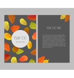 Bright autumnal banner vector
