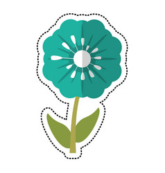 cartoon pansy flower decoration image vector image