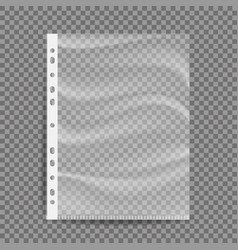 Cellophane business file a4 size empty vector