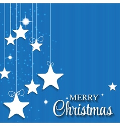 Christmas glossy star background vector