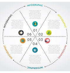 Circular chart infographic template vector