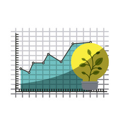 colorful silhouette of growing and financial risk vector image
