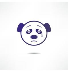 Crying panda vector image vector image