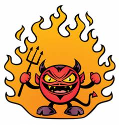 fat devil character vector image
