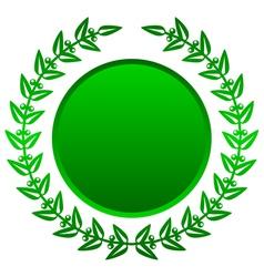 green laurels vector image vector image