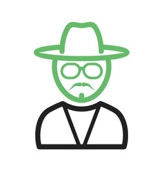 Hipster man in shades vector