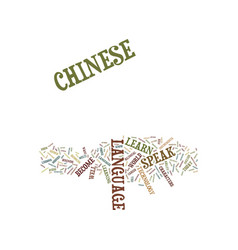 learn to speak chinese text background word cloud vector image vector image