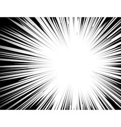 Manga comic book flash explosion radial lines vector