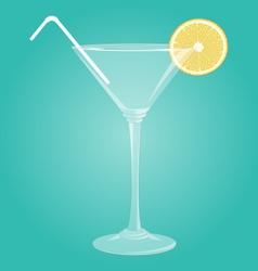 Martini glass with lemon vector image