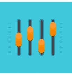modern flat sound mixer vector image