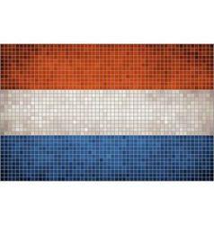 Mosaic Flag of Nederlands vector image