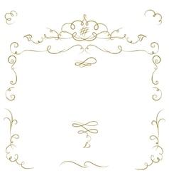 Ornate cartouche vector image vector image