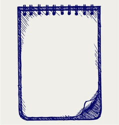 Paper with notebook vector