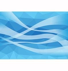 Polygon wind blown vector image vector image