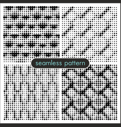 Seamless patterns with halftone dots 5 vector