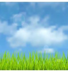 Spring natural background vector