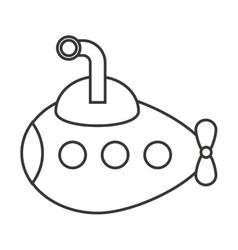 Submarine ship boat toy kids vector